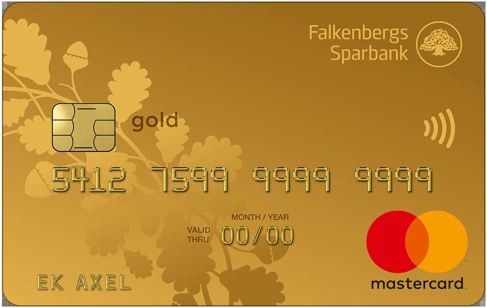 Betal- och kreditkort Mastercard Guld - attraktiva förmåner | Falkenbergs Sparbank